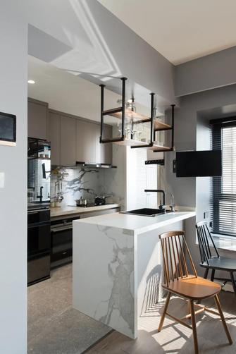 10-15万80平米三工业风风格厨房设计图