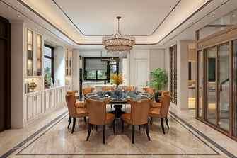 20万以上140平米别墅欧式风格餐厅图片