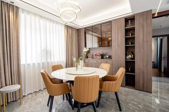 富裕型100平米三室三厅现代简约风格餐厅图片