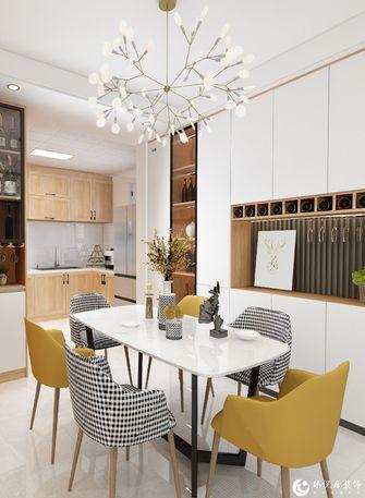 经济型90平米三室两厅北欧风格餐厅图片大全