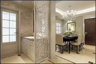 富裕型120平米三室一厅欧式风格玄关装修效果图