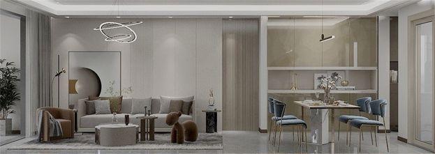 20万以上110平米三室两厅现代简约风格客厅装修图片大全
