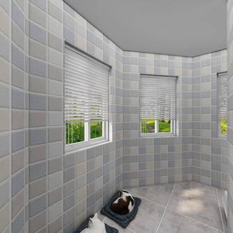 20万以上140平米四室一厅北欧风格阳台图