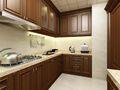 140平米美式风格厨房效果图