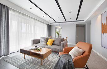 富裕型90平米三室一厅法式风格客厅图片大全
