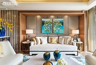 富裕型140平米三室一厅新古典风格客厅图片大全