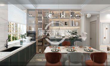 80平米公寓美式风格餐厅图片大全