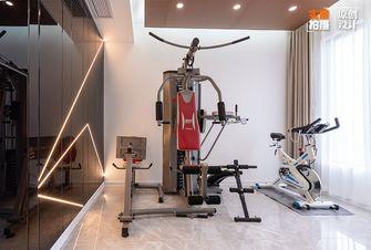 富裕型130平米三室两厅现代简约风格健身房欣赏图