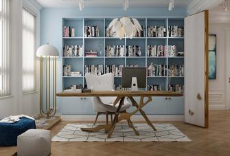 富裕型140平米四欧式风格书房设计图