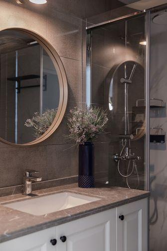 80平米三室两厅法式风格卫生间装修案例