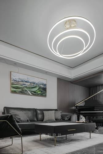120平米四室三厅轻奢风格客厅图片