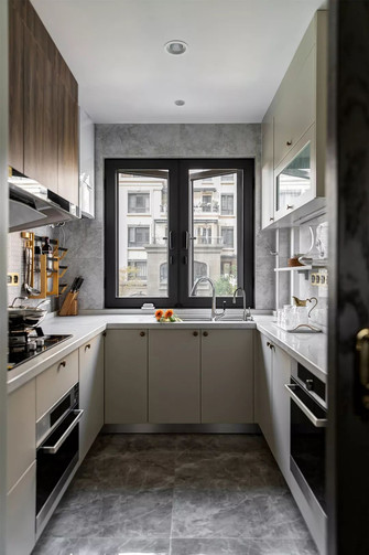 富裕型130平米三室两厅美式风格厨房图片大全