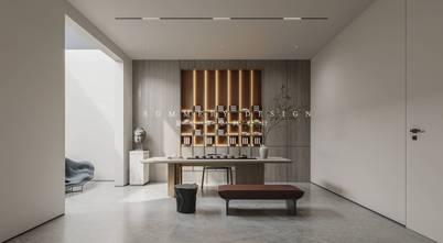 20万以上140平米四室四厅混搭风格书房装修效果图
