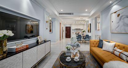 5-10万90平米三室一厅新古典风格客厅图