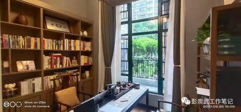 20万以上130平米复式中式风格书房设计图