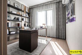 富裕型140平米四室两厅现代简约风格书房图