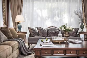 20万以上130平米四新古典风格客厅图片