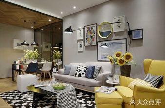 富裕型90平米北欧风格客厅装修案例