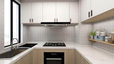 富裕型90平米三室一厅日式风格厨房设计图
