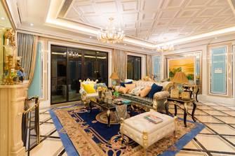 70平米三法式风格客厅设计图