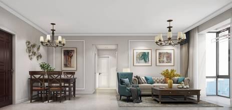 110平米三室三厅美式风格客厅图片