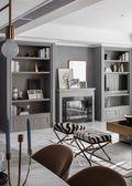 富裕型公寓混搭风格客厅图片大全