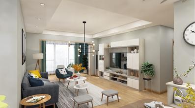 富裕型110平米三北欧风格客厅装修案例