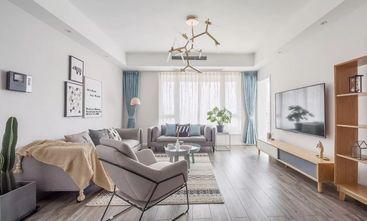 富裕型120平米三室两厅北欧风格客厅图