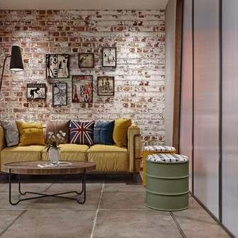 15-20万60平米一室一厅工业风风格客厅装修案例