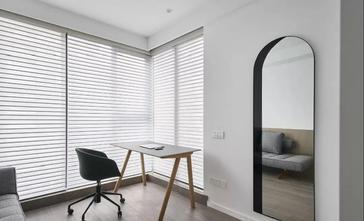 富裕型90平米三室两厅现代简约风格书房图