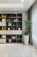 80平米三室一厅现代简约风格书房图片大全