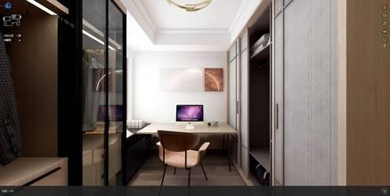 豪华型140平米中式风格书房图片