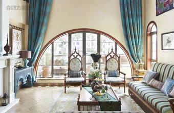 富裕型100平米别墅法式风格其他区域装修图片大全