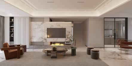 140平米复式法式风格客厅装修图片大全