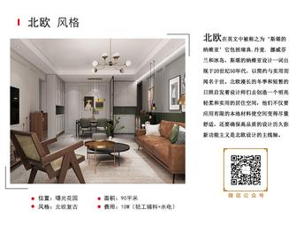 豪华型90平米北欧风格客厅装修图片大全