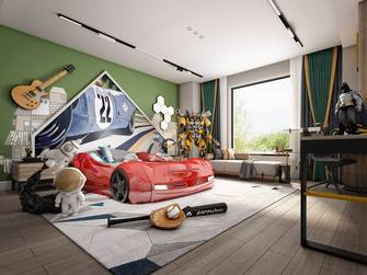 140平米别墅法式风格青少年房欣赏图