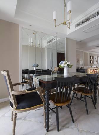 富裕型120平米三室两厅轻奢风格餐厅装修图片大全