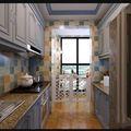130平米地中海风格厨房图
