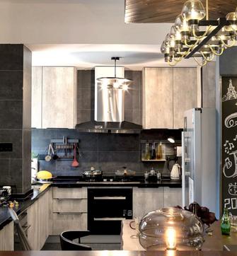 10-15万120平米三室两厅工业风风格厨房装修效果图