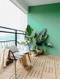 豪华型130平米三室两厅日式风格阳台装修效果图