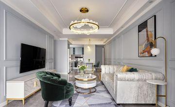 富裕型80平米三室一厅欧式风格客厅装修效果图