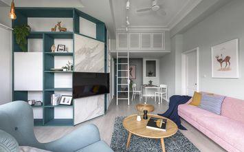 富裕型90平米混搭风格客厅欣赏图