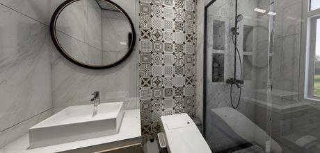 90平米三室一厅美式风格卫生间效果图