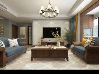 富裕型110平米三室一厅美式风格客厅图片