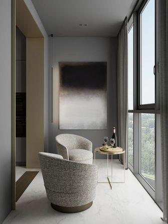 富裕型100平米一室一厅北欧风格阳台装修图片大全