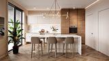 经济型60平米一室两厅轻奢风格餐厅装修案例