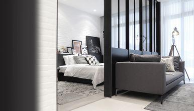 5-10万70平米一室一厅工业风风格卧室效果图