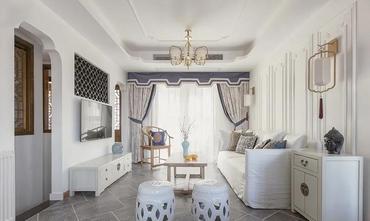 10-15万120平米三美式风格客厅效果图