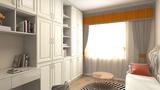 130平米三室两厅欧式风格书房欣赏图