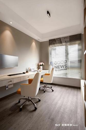 20万以上120平米三室三厅北欧风格书房设计图